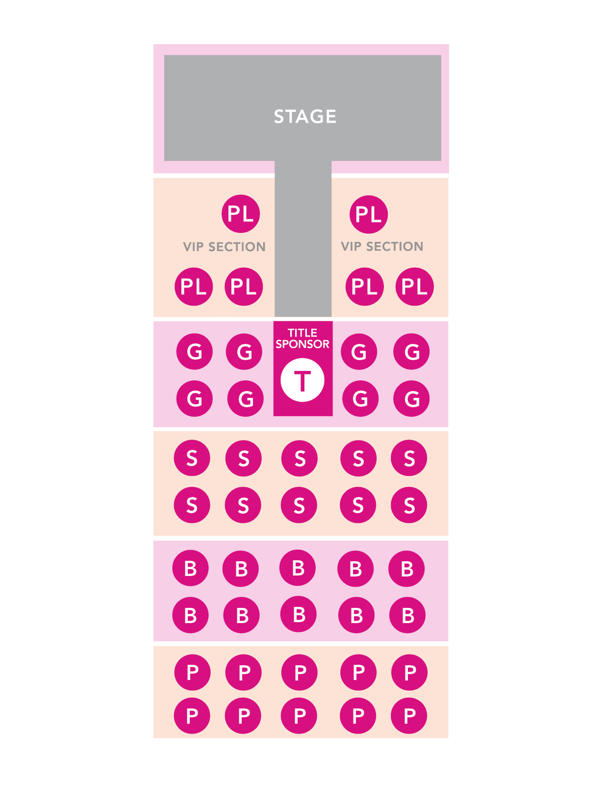 Sponsorship Seating Map